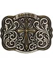 Montana Silversmiths Mens Two-Tone Faith Cross Traditional Attitude Buckle