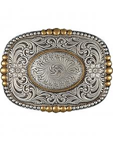 Montana Silversmiths Men's Heirloom Gold Pioneer Portrait Buckle