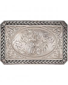 Montana Silversmiths Antiqued Wheat Trim Rectangle Buckle