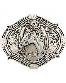 Montana Silversmiths Men's Antiqued Derby Winner Buckle