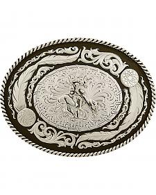 Montana Silversmiths Men's Wind Dancer Buckle with End of the Trail Figure