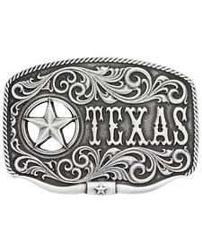 Montana Silversmiths Men's Texas Star Longhorn Attitude Buckle