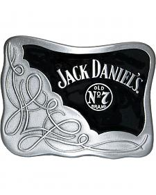 Jack Daniel's Men's Silver Scroll Logo Belt Buckle