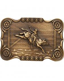 AndWest Men's Scalloped Bull Rider Belt Buckle
