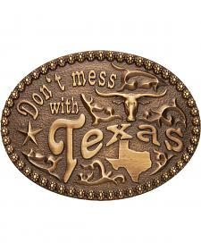 AndWest Men's Don't Mess With Texas Belt Buckle