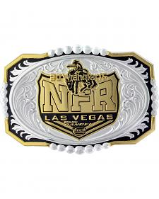 Montana Silversmiths 2015 WNFR Two-Tone Engraved Buckle