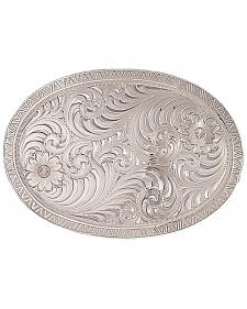 Montana Silversmiths Men's Oval Engraved Western Belt Buckle