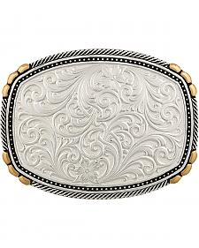 Montana Silversmiths Two-Tone Pinpoints & Twisted Rope Trim Buckle