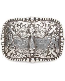 AndWest Men's Antique Silver Cross Belt Buckle