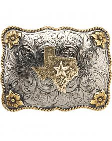 AndWest Men's Two-Tone Texas Star Belt Buckle