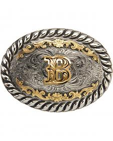 "AndWest Men's Two-Tone Initial ""B"" Belt Buckle"