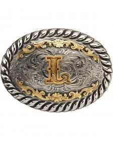 "AndWest Men's Two-Tone Initial ""L"" Belt Buckle"