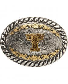 "AndWest Men's Two-Tone Initial ""T"" Belt Buckle"