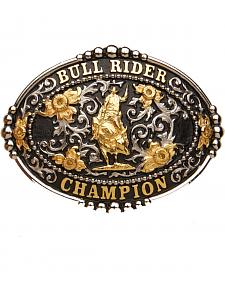 """AndWest """"Bull Rider Champion"""" Black Buckle"""