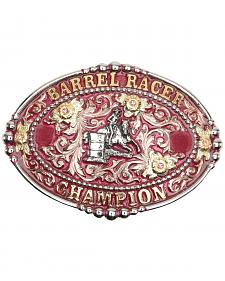 "AndWest Women's ""Barrel Racer Champion"" Pink Buckle"