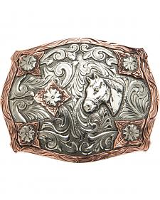 "AndWest Vintage ""Stanton"" Two-Tone Horse Head Buckle"