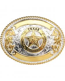 "AndWest ""Texas Ranger"" Gold and Silver Plate Belt Buckle"
