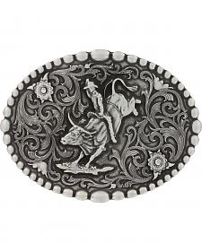 Montana Silversmiths Classic Oval Beaded Trim Attitude Belt Buckle