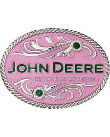 Montana Silversmiths Nothing Runs Like A Deere Attitude Belt Buckle