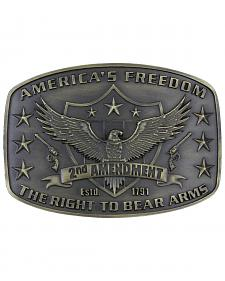Montana Silversmiths Second Amendment Heritage Attitude Belt Buckle