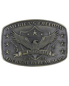 Montana Silversmiths Second Amendment Heritage Attitude Belt Buckle