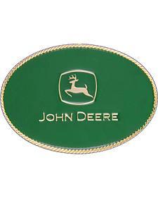 Montana Silversmiths John Deere Small Oval Attitude Belt Buckle