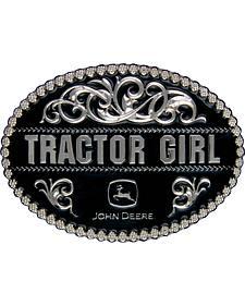 Montana Silversmiths John Deere Tractor Girl Attitude Belt Buckle