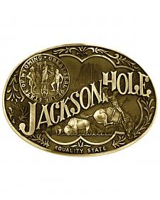 Montana Silversmiths Jackson Hole Wyoming State Heritage Attitude Belt Buckle