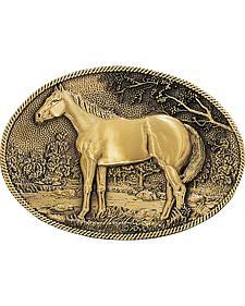 Montana Silversmiths Horse Profile Heritage Attitude Belt Buckle