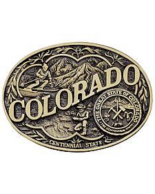 Montana Silversmiths Colorado State Heritage Attitude Belt Buckle