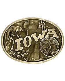 Montana Silversmiths Iowa State Heritage Attitude Belt Buckle
