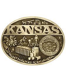 Montana Silversmiths Kansas State Heritage Attitude Belt Buckle