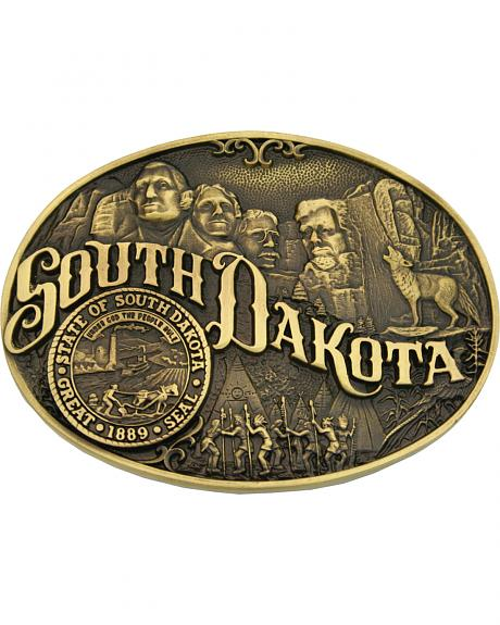 Montana Silversmiths South Dakota State Heritage Attitude Belt Buckle