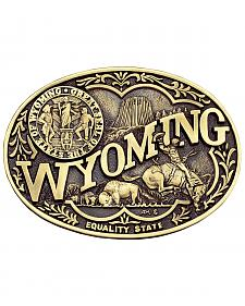 Montana Silversmiths Wyoming State Heritage Attitude Belt Buckle