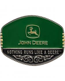 Montana Silversmiths John Deere Oval Painted Belt Buckle