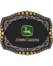 Montana Silversmiths John Deere Medium Scalloped Attitude Belt Buckle
