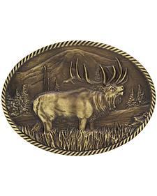 Montana Silversmiths Sculpted Wild Elk Heritage Attitude Belt Buckle