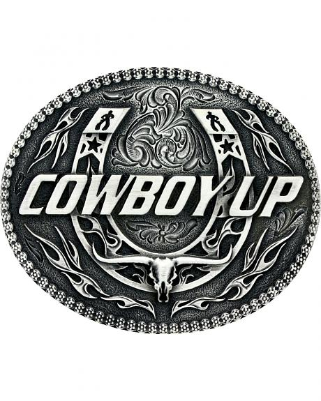 Montana Silversmiths Little Classic Impressions Cowboy Up Belt Buckle