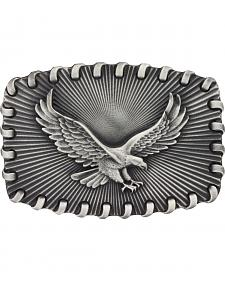 Montana Silversmiths Stitched Edge Radiating Golden Eagle Attitude Belt Buckle