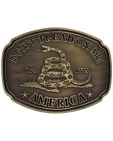 Montana Silversmiths American Gadsden Don't Tread On Me Heritage Attitude Belt Buckle