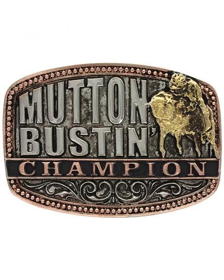 Montana Silversmiths Kids' Little Attitude Mutton Bustin Champion Belt Buckle