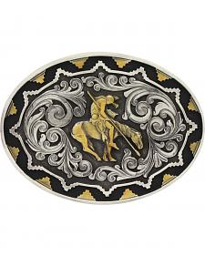 Montana Silversmiths Two-Tone Southwest Classic Impressions End of the Trail Attitude Belt Buckle
