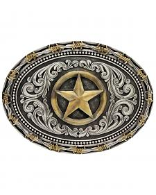 Montana Silversmiths Classic Impressions Two-Tone Lone Star Attitude Belt Buckle