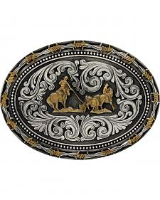Montana Silversmiths Classic Impressions Two-Tone Team Roper Attitude Belt Buckle