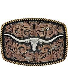 Montana Silversmiths John Wayne Classic Impressions Longhorn Attitude Belt Buckle