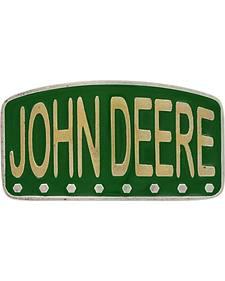 Montana Silversmiths John Deere Painted License Brass Attitude Belt Buckle