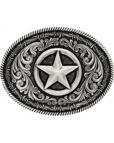 Montana Silversmiths Classic Impressions Texas Star Attitude Belt Buckle