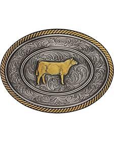 Montana Silversmiths Prize Heifer Classic Impressions Attitude Belt Buckle