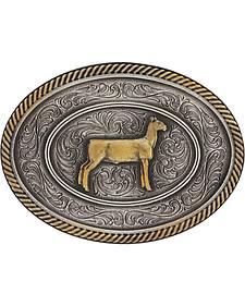 Montana Silversmiths Prize Ewe Classic Impressions Attitude Belt Buckle