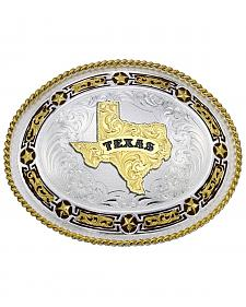 Montana Silversmiths Star Links State of Texas Western Belt Buckle